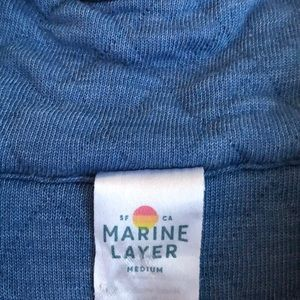 Marine Layer Tops - Marine Layer blue quilted quarter-snap pullover M